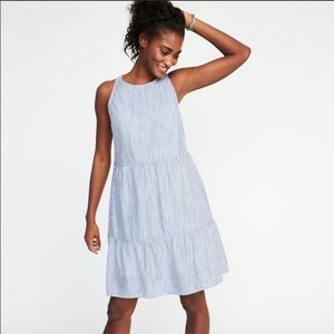 Old Navy Striped Tiered Dress
